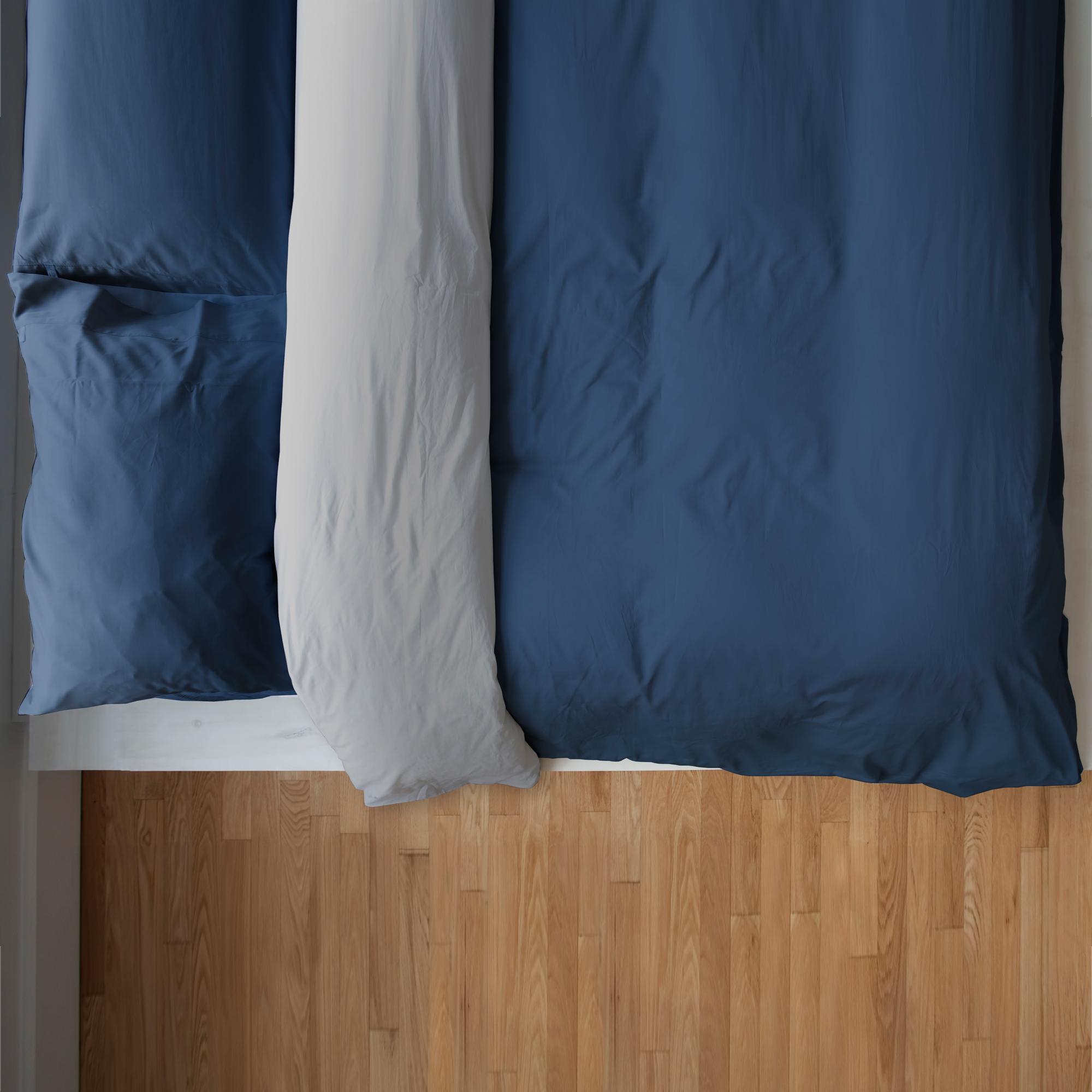housse de couette reversible denim gris lunaire laduvet nordique couette de lit housse. Black Bedroom Furniture Sets. Home Design Ideas
