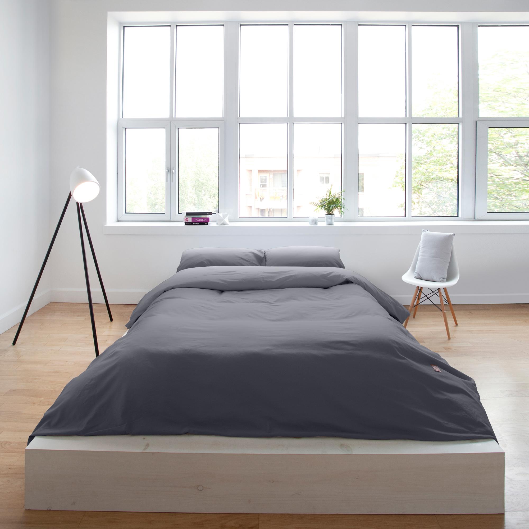 housse de couette infiniment grise laduvet nordique. Black Bedroom Furniture Sets. Home Design Ideas